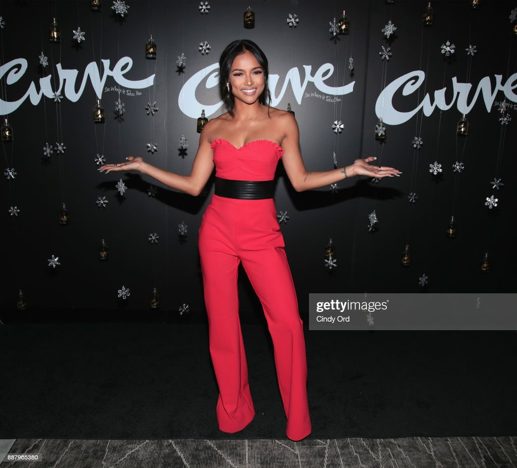 Actress & Model Karrueche Tran hosts the Curve Fragrances Holiday Party at Arlo NoMad on December 7, 2017 in New York City.