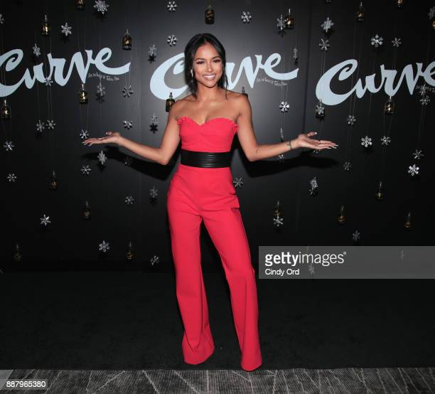 Actress Model Karrueche Tran hosts the Curve Fragrances Holiday Party at Arlo NoMad on December 7 2017 in New York City