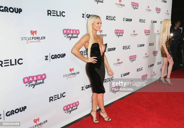 Actress / Model Lindsey Pelas attends the 4th annual Babes In Toyland Pet Gala benefiting Operation Blankets Of Love at Avalon on March 21 2018 in...