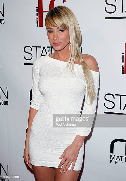 Actress / Model Sara Underwood arrives at the launch party for FG Magazine's February Issue at W Hollywood on January 26 2011 in Hollywood California