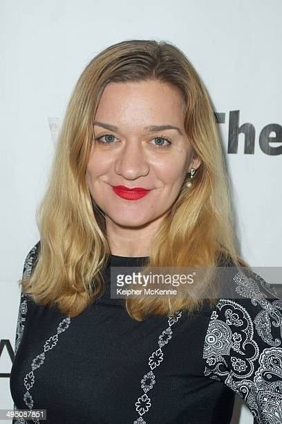 Actress Moira Cue attends the Living Dot Com summit and world premiere at Writers Guild Theater on May 31 2014 in Beverly Hills California
