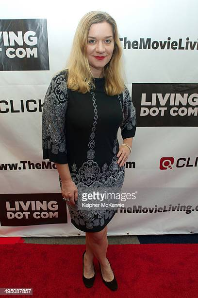 Actress Moira Cue attends the Living Dot Com summit and world premiere at Writers Guild Theater on May 31, 2014 in Beverly Hills, California.