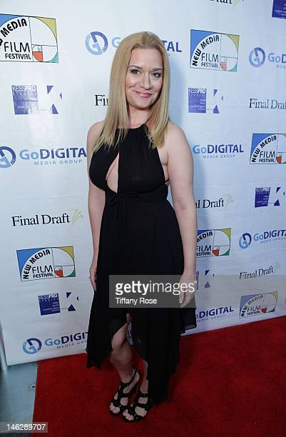 Actress Moira Cue attends the Los Angeles Premiere of Ray Bradbury's Kaleidoscope at the New Media Film Festival at the Landmark Theatre on June 12...