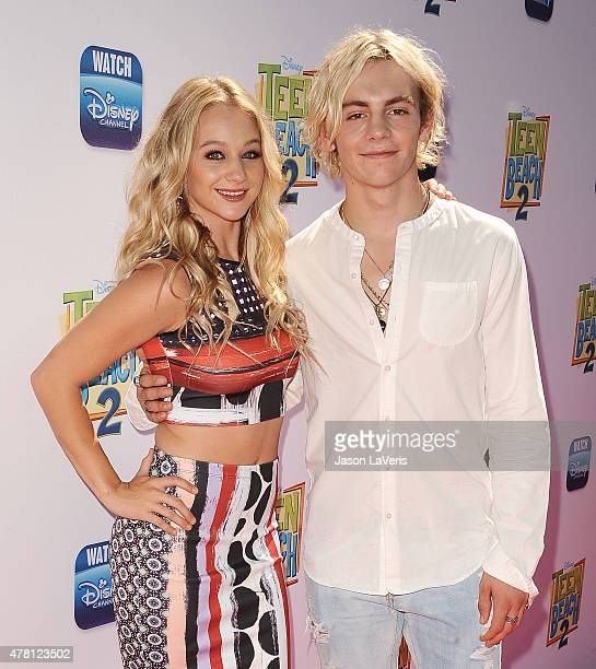 Actress Mollee Gray and actor Ross Lynch attend the premiere of Teen Beach 2 at Walt Disney Studios on June 22 2015 in Burbank California