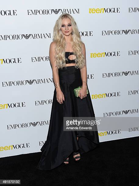 Actress Mollee Gray arrives at Teen Vogue's 13th Annual Young Hollywood Issue Launch Party on October 2 2015 in Los Angeles California