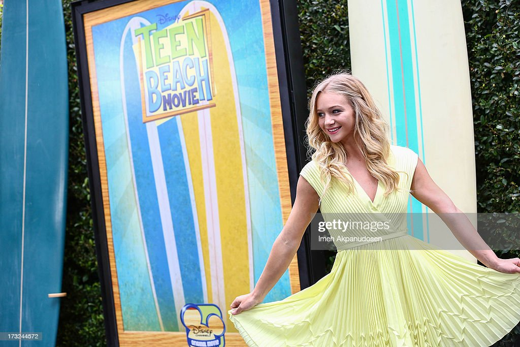 Actress Mollee Gray attends the cast of 'Teen Beach Movie' reunion for movie night at Walt Disney Studios on July 10, 2013 in Burbank, California.