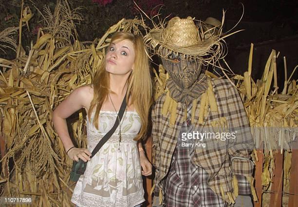 Actress Molly Burnett attends Knott's Scary Farm's 36th Annual Haunt on October 23 2008 in Buena Park California