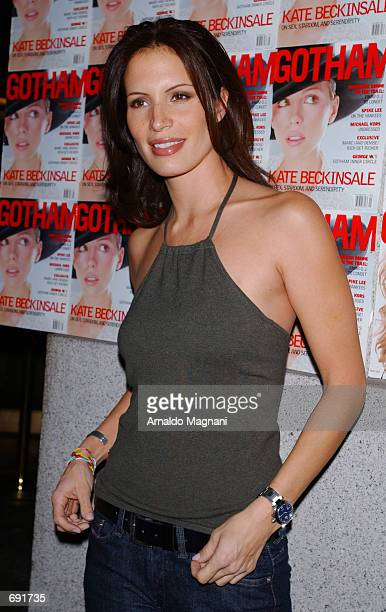 Actress Molly Culver attends the Gotham Magazine one year anniversary party January 8 2002 at The Regent Ballroom in New York City