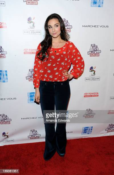 Actress Molly Ephraim arrives at the 2nd Annual Hollywood Rush Benefiting The Baby Dragon Fund at The Wilshire Ebell Theatre on February 19 2012 in...
