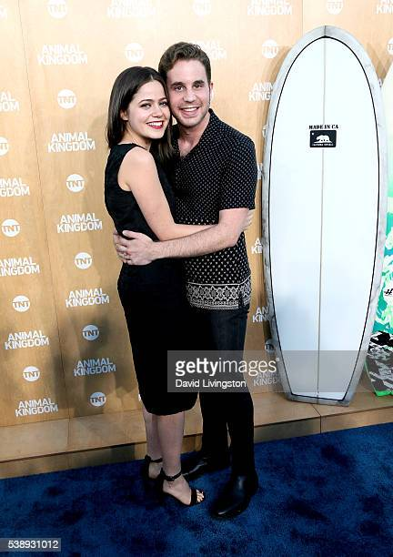 Actress Molly Gordon and actor Ben Platt attend the premiere of TNT's 'Animal Kingdom' at The Rose Room on June 8 2016 in Venice California