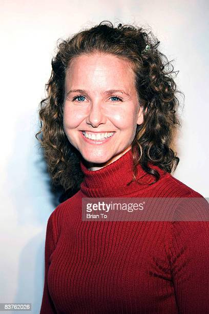Actress Molly Hagan arrives at Gaydar Gun Launch Party at Here Lounge on November 19 2008 in West Hollywood California