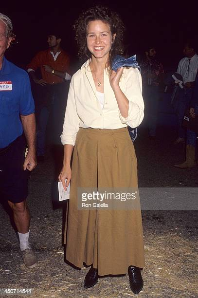 Actress Molly Hagan attends the TreePeople's Sixth Annual Evening Under the Harvest Moon Beneft on September 26 1992 at TreePeople Headquarters...