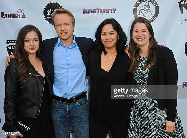 Actress Molly McIntyre, actor James Gallo, director Chloe Okuno and producer Lisa Gollobin arrive for the Etheria Film Night 2015 held at American...