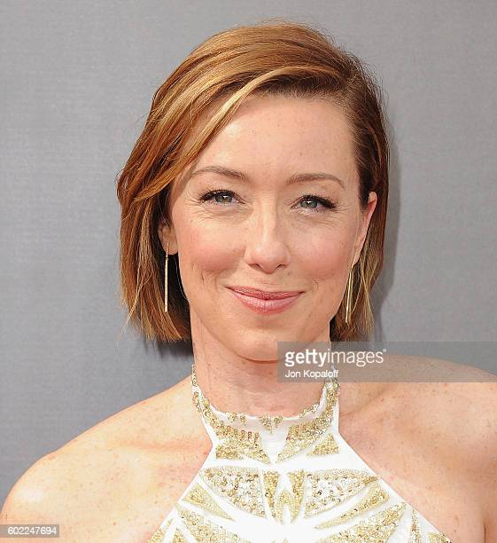 Actress Molly Parker arrives at the 2016 Creative Arts Emmy Awards at Microsoft Theater on September 10 2016 in Los Angeles California