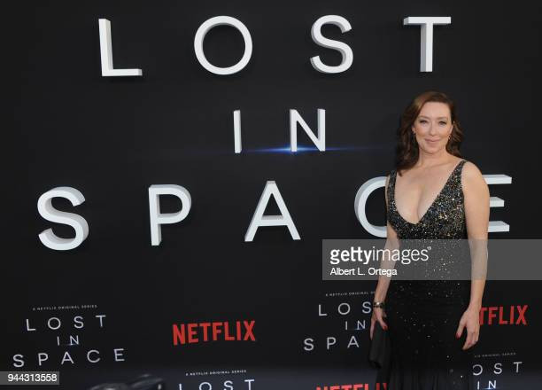 Actress Molly Parker arrives for the Premiere Of Netflix's 'Lost In Space' Season 1 held at The Cinerama Dome on April 9 2018 in Los Angeles...