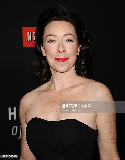Actress Molly Parker attends a screening of 'House Of Cards' at Directors Guild Of America on February 13 2014 in Los Angeles California