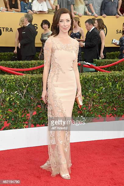 Actress Molly Parker attends the 21st Annual Screen Actors Guild Awards at The Shrine Auditorium on January 25 2015 in Los Angeles California