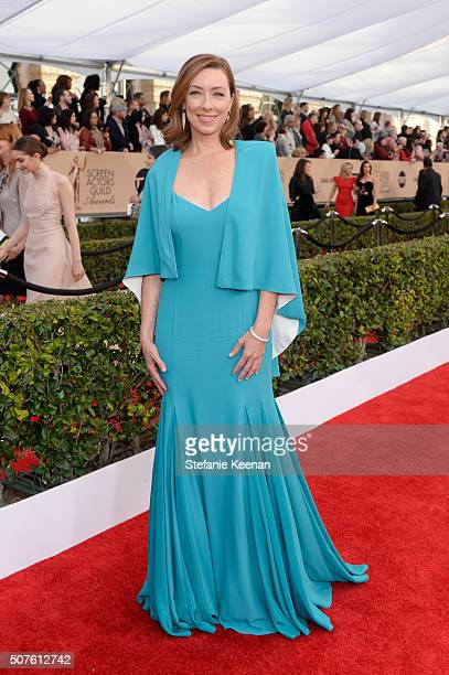 Actress Molly Parker attends The 22nd Annual Screen Actors Guild Awards at The Shrine Auditorium on January 30 2016 in Los Angeles California...