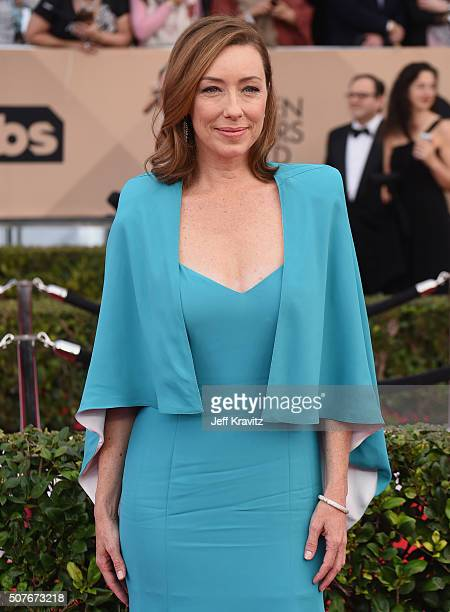 Actress Molly Parker attends the 22nd Annual Screen Actors Guild Awards at The Shrine Auditorium on January 30 2016 in Los Angeles California