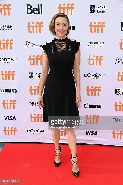 Actress Molly Parker attends the American Pastoral during the 2016 Toronto International Film Festival premiere at Princess of Wales Theatre on...