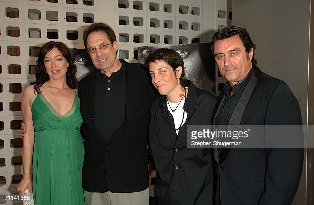 Actress Molly Parker Show Creator/Executive Producer David Milch President of HBO Entertainment Carolyn Strauss and actor Ian McShane arrive at the...
