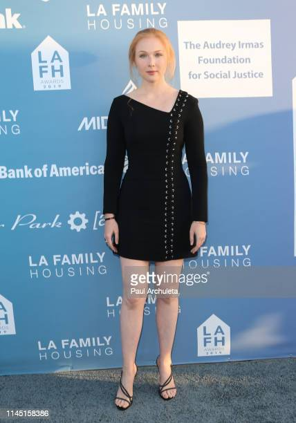 Actress Molly Quinn attends the LA Family Housing Annual LAFH Awards and fundraiser celebration at The Lot on April 25 2019 in West Hollywood...