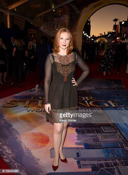 Actress Molly Quinn attends the premiere of Disney And Marvel Studios' 'Doctor Strange' on October 20 2016 in Hollywood California