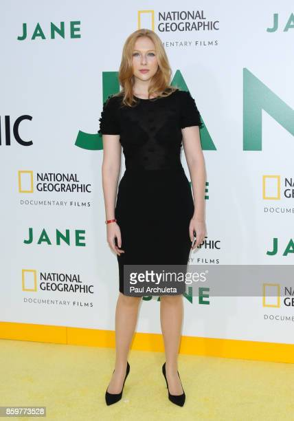 Actress Molly Quinn attends the premiere of National Geographic documentary films' 'Jane' at the Hollywood Bowl on October 9 2017 in Hollywood...