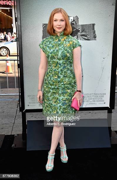 Actress Molly Quinn attends the premiere of New Line Cinema's Lights Out at the TCL Chinese Theatre on July 19 2016 in Hollywood California