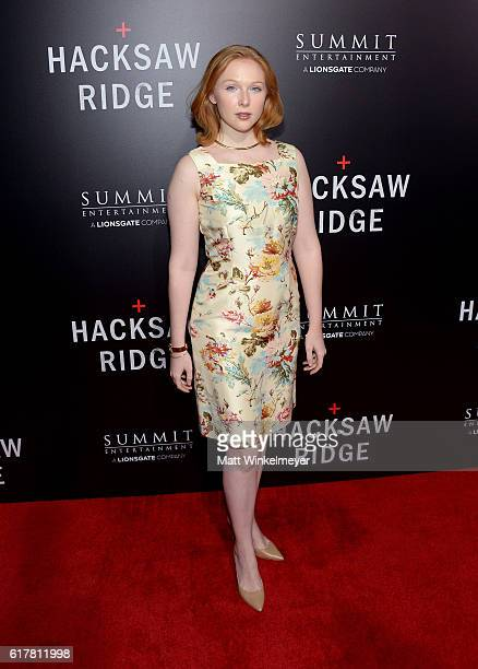 Actress Molly Quinn attends the screening of Summit Entertainment's 'Hacksaw Ridge' at Samuel Goldwyn Theater on October 24 2016 in Beverly Hills...