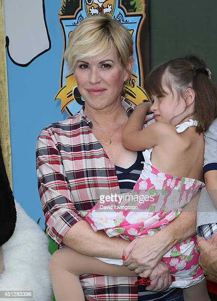 Actress Molly Ringwald and daughter Adele Gianopoulos attend the Camp Snoopy's 30th Anniversary VIP Party at Knott's Berry Farm on June 26 2014 in...