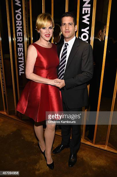 Actress Molly Ringwald and editor Panio Gianopoulos attend The New Yorker Festival 2014 wrap party at the Top of The Standard Hotel on October 11...