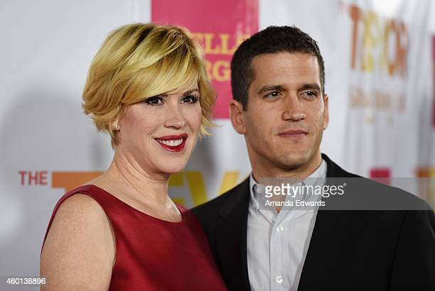 Actress Molly Ringwald and her husband Panio Gianopoulos arrive at the TrevorLIVE Los Angeles benefit event at the Hollywood Palladium on December 7...