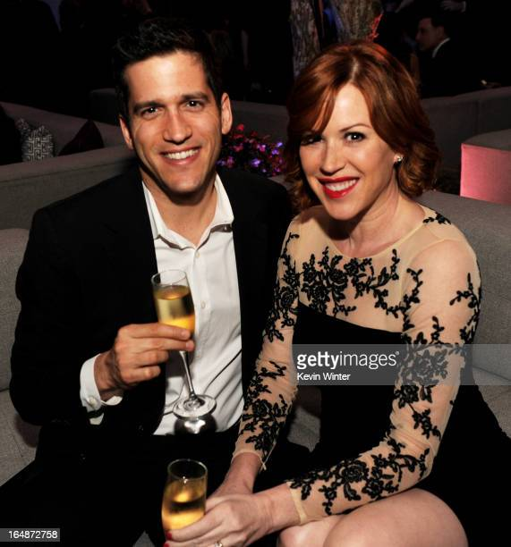 Actress Molly Ringwald and her husband writer Panio Gianopoulos pose at the after party for the premiere of Paramount Pictures' GI Joe Retaliation at...