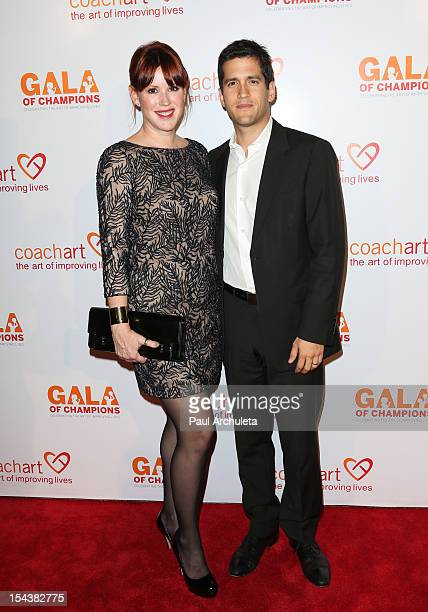 Actress Molly Ringwald and her Husband Writer Panio Gianopoulos attend the CoachArt Gala of Champions at The Beverly Hilton Hotel on October 18 2012...