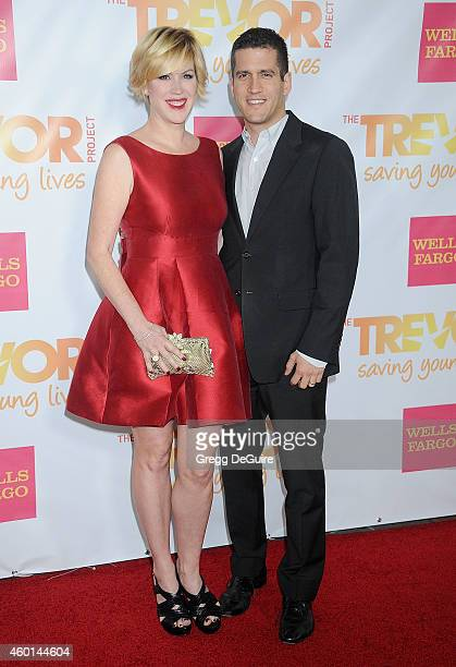 Actress Molly Ringwald and husband Panio Gianopoulos arrive at TrevorLIVE Los Angeles at Hollywood Palladium on December 7 2014 in Los Angeles...