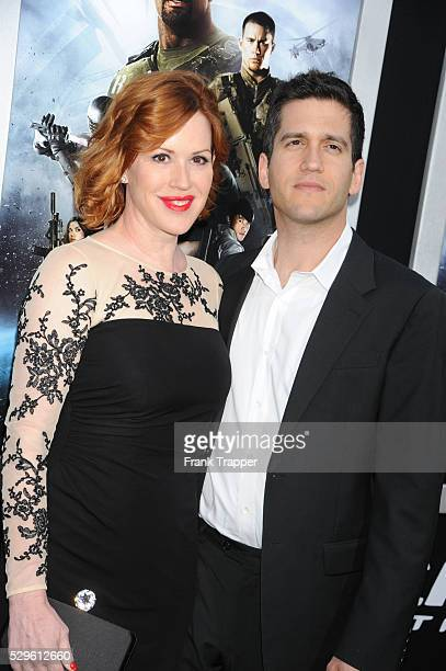 Actress Molly Ringwald and husband Panio Gianopoulos arrive at the premiere of GI Joe Retaliation held at the Chinese Theater in Hollywood