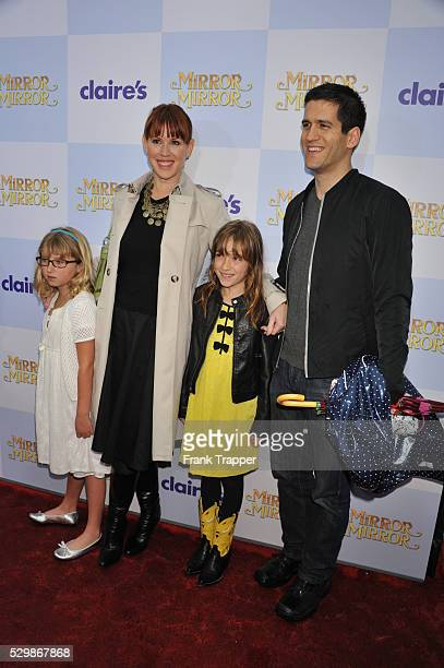 Actress Molly Ringwald and husband Panio Gianopoulos arrive with children at the world premiere of Mirror Mirror held at Grauman's Chinese Theater in...