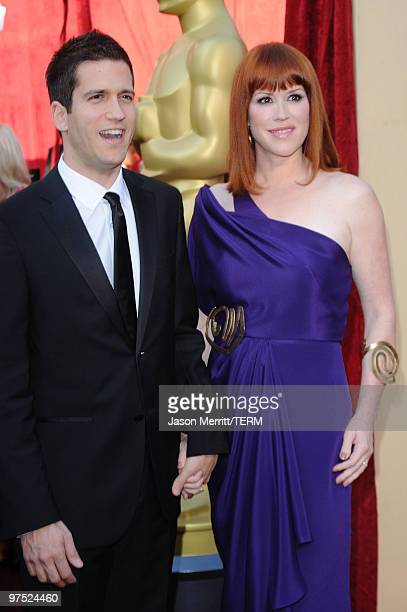 Actress Molly Ringwald and husband Panio Gianopoulos arrives at the 82nd Annual Academy Awards held at Kodak Theatre on March 7 2010 in Hollywood...