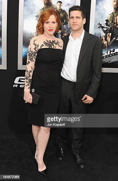 Actress Molly Ringwald and husband writer Panio Gianopoulos arrive at the Los Angeles Premiere GI Joe Retaliation at TCL Chinese Theatre on March 28...