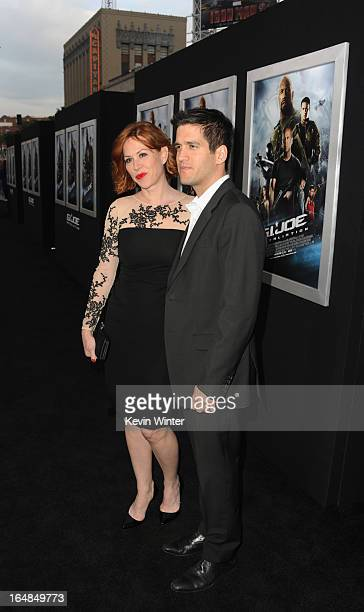 Actress Molly Ringwald and husband/actor Panio Gianopoulos attend the premiere of Paramount Pictures' GI JoeRetaliation at TCL Chinese Theatre on...
