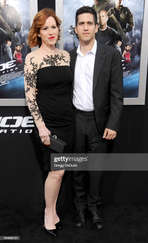 Actress Molly Ringwald and husband/writer Panio Gianopoulos arrive at the 'G.I. Joe: Retaliation' Los Angeles premiere at TCL Chinese Theatre on March 28, 2013 in Hollywood, California.