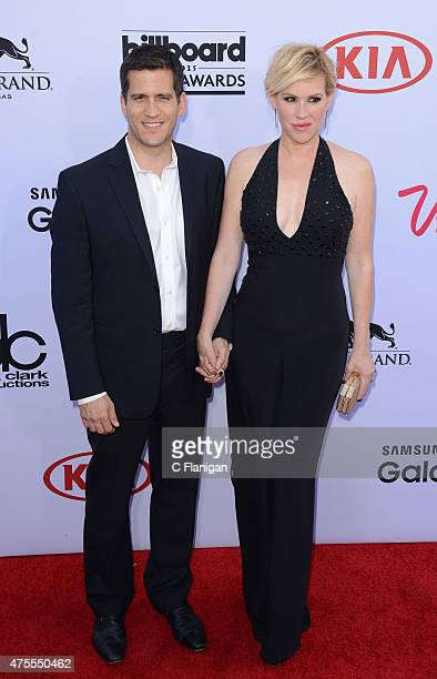 Actress Molly Ringwald and Panio Gianopoulos arrive at the 2015 Billboard Music Awards at MGM Garden Arena on May 17 2015 in Las Vegas Nevada