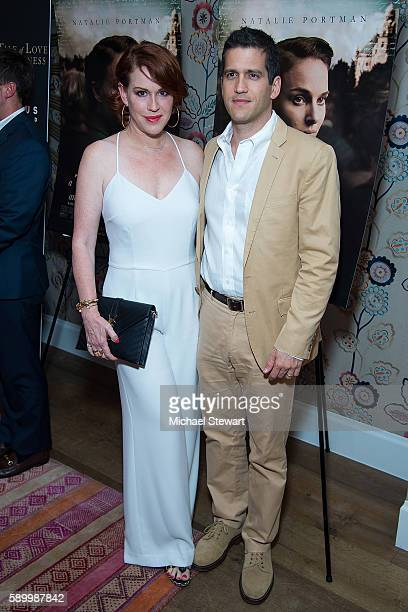 Actress Molly Ringwald and Panio Gianopoulos attend the A Tale Of Love Darkness New York premiere at Crosby Street Hotel on August 15 2016 in New...