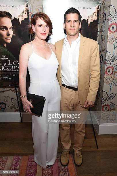 Actress Molly Ringwald and Panio Gianopoulos attend the premiere for A Tale Of Love Darkness at Crosby Street Hotel on August 15 2016 in New York City
