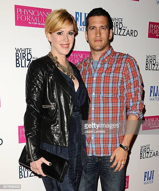 Actress Molly Ringwald and Panio Gianopoulos attend the premiere of White Bird in a Blizzard at ArcLight Hollywood on October 21 2014 in Hollywood...