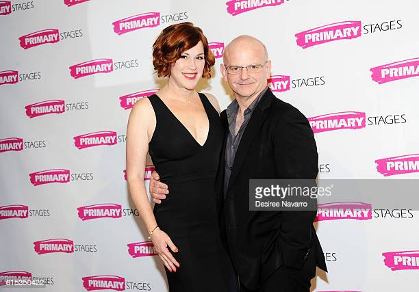 Actress Molly Ringwald and stage director Michael Wilson attend Primary Stages 2016 Gala at 538 Park Avenue on October 17 2016 in New York City
