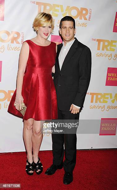 Actress Molly Ringwald and writer Panio Gianopoulos arrive at TrevorLIVE Los Angeles at Hollywood Palladium on December 7 2014 in Los Angeles...