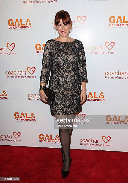 Actress Molly Ringwald attends the CoachArt Gala of Champions at The Beverly Hilton Hotel on October 18 2012 in Beverly Hills California