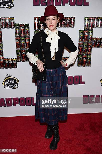 Actress Molly Ringwald attends the Deadpool fan event at AMC Empire Theatre on February 8 2016 in New York City